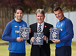 Sandy Jardine with Neil Alexander and Lee McCulloch and the new Illustrated History of Rangers book