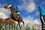 Action at the Ballylongford Races last Sunday afternoon.