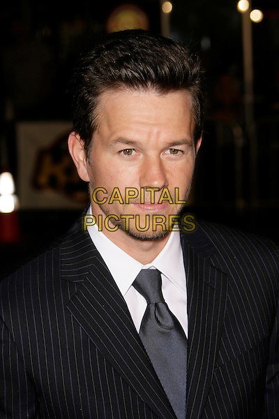 "MARK WAHLBERG.At the ""Shooter"" Los Angeles Premiere held at Mann Village Theatre, Westwood, California, USA, 08 March 2007..portrait headshot black suit tie white shirt.CAP/ADM/ZL.©Zach Lipp/AdMedia/Capital Pictures."