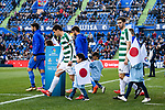 Dani Garcia Carrillo of SD Eibar (L) getting into the field3 during the La Liga 2017-18 match between Getafe CF and SD Eibar at Coliseum Alfonso Perez Stadium on 09 December 2017 in Getafe, Spain. Photo by Diego Souto / Power Sport Images