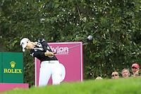 Sung Hyun Park (KOR) tees off the 9th tee during Thursday's Round 1 of The Evian Championship 2018, held at the Evian Resort Golf Club, Evian-les-Bains, France. 13th September 2018.<br /> Picture: Eoin Clarke | Golffile<br /> <br /> <br /> All photos usage must carry mandatory copyright credit (© Golffile | Eoin Clarke)