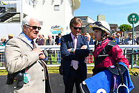 Connections of Time Change in the winners enclosure after winning The Smith & Williamson British EBF Fillies' Handicap (Class 3)  during Afternoon Racing at Salisbury Racecourse on 17th May 2018