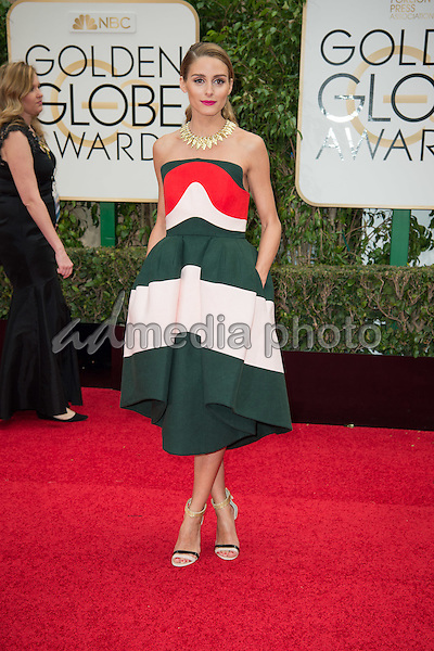 Actress Olivia Palermo attends the 73rd Annual Golden Globes Awards at the Beverly Hilton in Beverly Hills, CA on Sunday, January 10, 2016. Photo Credit: HFPA/AdMedia