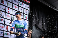 Champagne shower podium with <br /> 3th place  finisher Niki Terpstra (NED/Direct Energie)<br /> <br /> Circuit de Wallonie 2019<br /> One Day Race: Charleroi – Charleroi 192.2km (UCI 1.1.)<br /> Bingoal Cycling Cup 2019