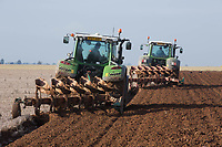 Ploughing land ready for drilling Spring Barley <br /> &copy;Tim Scrivener Photographer 07850 303986<br /> ....Covering Agriculture In The UK....