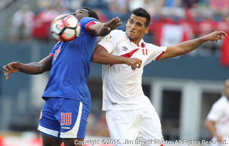 Haiti vs Peru in a 2016 Copa America Centenario soccer match at CenturyLink Field in Seattle, Washington on June 4, 2016.  Peru beat Haiti- 1-0. ©2016. Jim Bryant. All Rights Reserved.