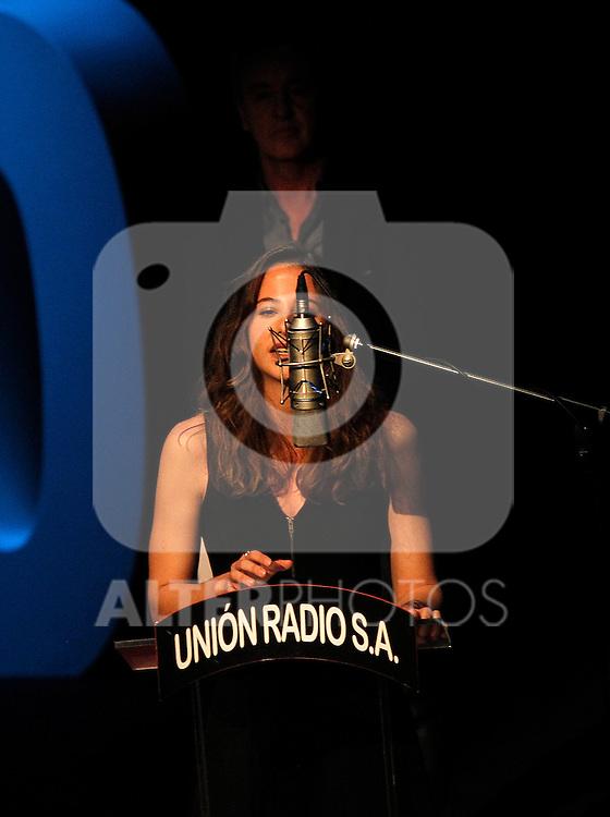 "Spanish actors Irene Escolar and Carlos Hipolito during the Gala ""Contigo"" in celebration of the 90th anniversary of Radio Madrid Cadena SER. June 2, 2015. (ALTERPHOTOS/Acero)"