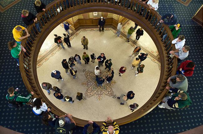 Visitors tour the Main Building, Oct. 2, 2009...Photo by Matt Cashore/University of Notre Dame