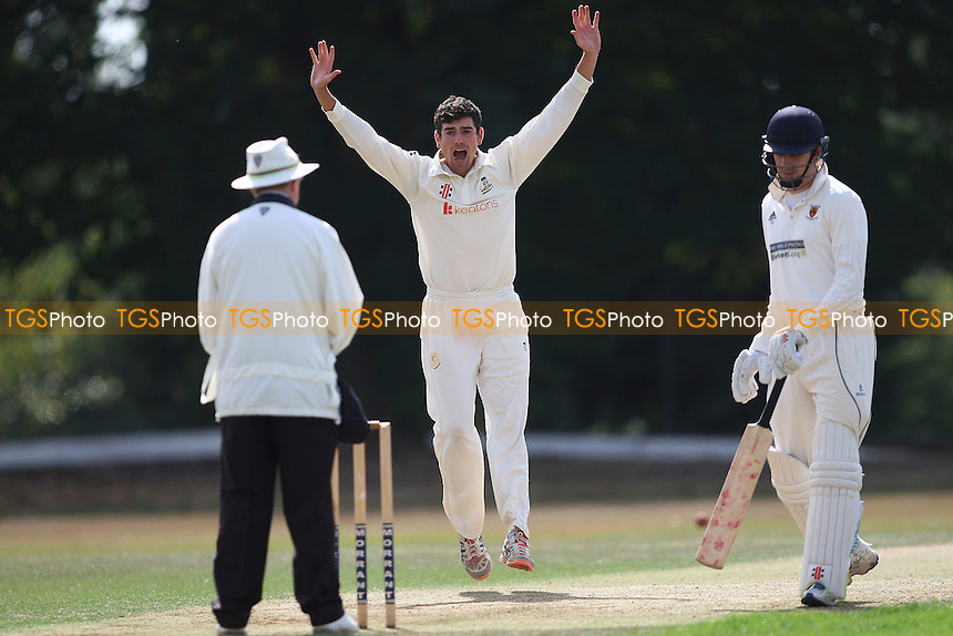 Joe Ellis-Grewel of Wanstead appeals for a wicket during Wanstead and Snaresbrook CC vs Colchester and East Essex CC, Shepherd Neame Essex League Cricket at Overton Drive on 1st September 2016
