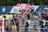 Cary, North Carolina  - Saturday July 01, 2017: Courage supporters group during a regular season National Women's Soccer League (NWSL) match between the North Carolina Courage and the Sky Blue FC at Sahlen's Stadium at WakeMed Soccer Park. Sky Blue FC won the game 1-0.