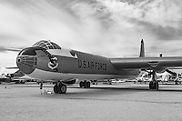 Convair B-36 Peacemaker. The B-36 was a strategic bomber built by Convair and operated by the United States Air Force from 1949 to 1959. The Peacemaker was the largest mass-produced piston engine aircraft ever made.