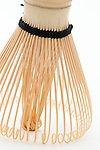 Japanese bamboo tea whisk stands up.