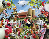 Lori, REALISTIC ANIMALS, REALISTISCHE TIERE, ANIMALES REALISTICOS, paintings+++++Spring Chickens_72,USLS41,#A#, EVERYDAY ,puzzles