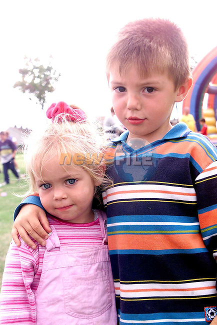 Jessica and Brandon Sullivan at the Moneymore Sports Day..Picture Paul Mohan Newsfile
