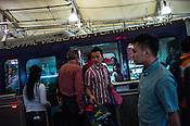 Commuters use the monorail metro service at Bukit Bintang in Kuala Lumpur, Malaysia. Photo: Sanjit Das/Panos