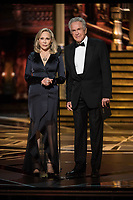 Warren Beatty and Faye Dunaway present the Oscar&reg; for best picture motion picture of the year during the live ABC Telecast of The 90th Oscars&reg; at the Dolby&reg; Theatre in Hollywood, CA on Sunday, March 4, 2018.<br /> *Editorial Use Only*<br /> CAP/PLF/AMPAS<br /> Supplied by Capital Pictures