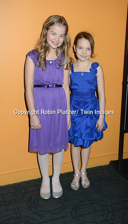 "Megan Charpentier and Isabelle Nelisse attends the ""Mama"" special  screening at the Landmark's Sunshine Cinema on January 7, 2013 in New York City. .The movie stars Jessica Chastain, Nikolaj Coster-Waldau, Megan Charpentier and Isabelle Nelisse."