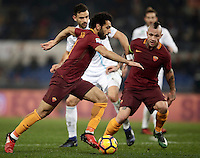 Calcio, Serie A: Roma vs ChievoVerona. Roma, stadio Olimpico, 22 settembre 2016.<br /> Roma&rsquo;s Mohamed Salah in action during the Italian Serie A football match between Roma and Chievo Verona, at Rome's Olympic stadium, 22 December 2016.<br /> UPDATE IMAGES PRESS/Isabella Bonotto