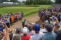 Rory McIlroy (NIR) chips up tight from the rocks on 11 during 4th round of the 100th PGA Championship at Bellerive Country Club, St. Louis, Missouri. 8/12/2018.<br /> Picture: Golffile   Ken Murray<br /> <br /> All photo usage must carry mandatory copyright credit (© Golffile   Ken Murray)