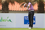 Jose Manuel Lara (ESP) in action on the 1st tee during Day 2 Friday of the Open de Andalucia de Golf at Parador Golf Club Malaga 25th March 2011. (Photo Eoin Clarke/Golffile 2011)