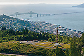 Astoria Column overlooking city and bridge