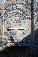 VHILS<br /> Using jackhammers and chisels, Vhils used his unique process to create a stunning portrait which was based on the first photographs made of Native American Cherokee.