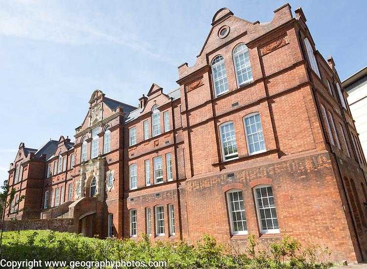 Red brick Victorian nineteenth century Technical College building, Swindon, Wiltshire, England, UK