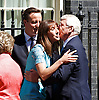Her Majesty Queen Elizabeth II and His Royal Highness Prince Phillip The Duke of Edinburgh visit No 10 Downing Street for lunch with the British Prime Minister Rt Hon David Cameron MP, his wife Samantha Cameron and Tony Blair, John and Norma Major and Gordon and Sarah Brown.<br /> <br /> 24th July 2012 <br /> <br /> 10 Downing Street<br /> London Great Britain <br /> <br /> Photograph by Elliott Franks