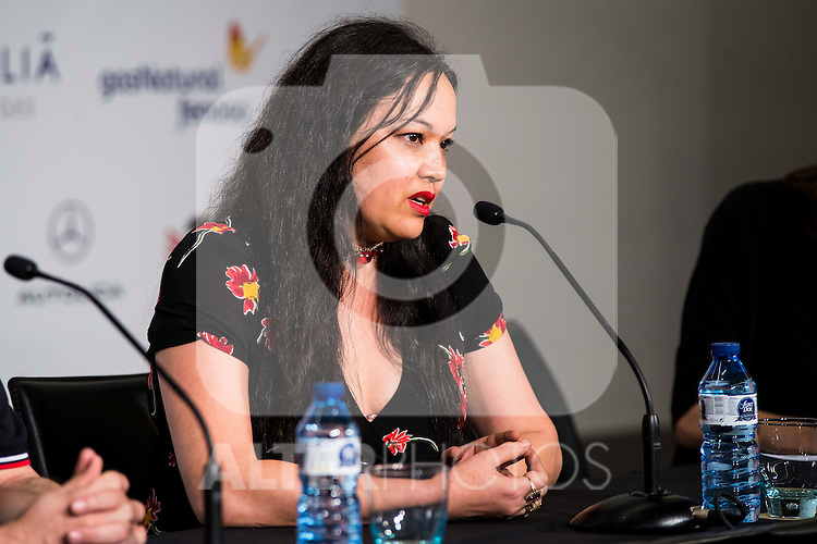 "The director of the film, Anna Biller during the press conference of the presentation of the film ""The Love Witch"" at the Festival de Cine Fantastico de Sitges in Barcelona. October 08, Spain. 2016. (ALTERPHOTOS/BorjaB.Hojas)"