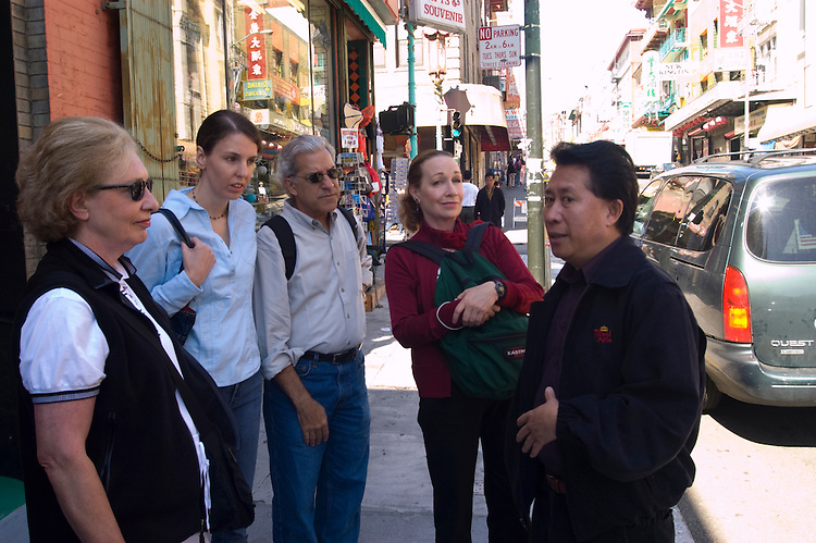 California: Chinatown San Francisco. Celebrity chef Martin Yan leading tour. Photo #: chinatown-san-francisco-17-casanf16798. Photo copyright Lee Foster.