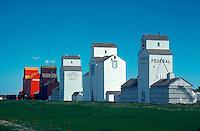Grain elevators, New High River, Alberta, Canada