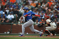 SAN FRANCISCO, CA - AUGUST 9:  Willson Contreras #40 of the Chicago Cubs bats against the San Francisco Giants during the game at AT&T Park on Wednesday, August 9, 2017 in San Francisco, California. (Photo by Brad Mangin)