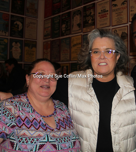 All My Children's Rosie O'Donnell star in the musical The Music Man at the Eisenhower Theater and poses with Vikki at the  John F. Kennedy Center for the Performing Arts, Washington D.C. in a sold out run and photos were taken on February 10, 2019 in the green room.  (Photo by Sue Coflin/Max Photo)