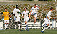 04 September 2009:  Luke Norman #14 of Wake Forest University boots the ball up field during an Adidas Soccer Classic match against the University of Notre Dame at the University of Indiana in Bloomington, In. The game ended in a 1-1 tie..
