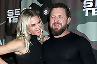 """LOS ANGELES - FEB 25:  Abigail Ochse and AJ Buckley at the """"Seal Team"""" Screening at the ArcLight Hollywood on February 25, 2020 in Los Angeles, CA"""