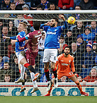16.02.2019: Rangers v St Johnstone: Joe Shaughnessey heads towards goal and is saved by Wes Foderingham at full stretch
