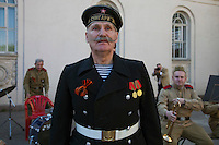 Moscow, Russia, 09/05/2010..A naval veteran in Gorky Park to celebrate Victory Day.