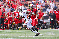 College Park, MD - September 15, 2018:  Temple Owls wide receiver Brodrick Yancy (14) runs the ball during the game between Temple and Maryland at  Capital One Field at Maryland Stadium in College Park, MD.  (Photo by Elliott Brown/Media Images International)