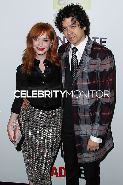 """HOLLYWOOD, LOS ANGELES, CA, USA - APRIL 02: Christina Hendricks, Geoffrey Arend at the Los Angeles Premiere Of AMC's """"Mad Men"""" Season 7 held at ArcLight Cinemas on April 2, 2014 in Hollywood, Los Angeles, California, United States. (Photo by Xavier Collin/Celebrity Monitor)"""