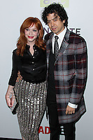 "HOLLYWOOD, LOS ANGELES, CA, USA - APRIL 02: Christina Hendricks, Geoffrey Arend at the Los Angeles Premiere Of AMC's ""Mad Men"" Season 7 held at ArcLight Cinemas on April 2, 2014 in Hollywood, Los Angeles, California, United States. (Photo by Xavier Collin/Celebrity Monitor)"