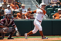 Texas Longhorns second baseman Brooks Marlow #8 swings during the NCAA baseball game against the Texas A&M Aggies on April 28, 2012 at UFCU Disch-Falk Field in Austin, Texas. The Aggies beat the Longhorns 12-4. (Andrew Woolley / Four Seam Images).