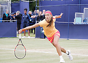 June 16th 2017, The Northern Lawn tennis Club, Manchester, England; ITF Womens tennis tournament; Number seven seed Aleksandra Krunic (SRB) in action during her quarter final singles match against Gabriella Taylor (GBR); Krunic won in straight sets