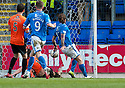 St Johnstone's Steven May scores their second goal.