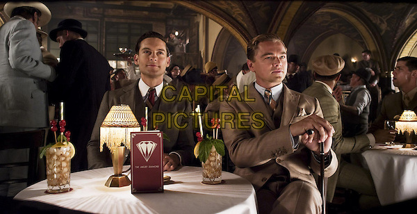 Tobey Maguire & Leonardo DiCaprio.in The Great Gatsby (2013) .*Filmstill - Editorial Use Only*.CAP/NFS .Supplied by Capital Pictures.