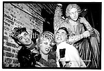 L-R:  Superstar DJ Keoki, &quot;Social Lies&quot; (aka Cynthia) and Michael Alig pose for a photo at Tunnel night club on January 13, 1988 in New York City.<br /> <br /> Copyright Catherine McGann / All Rights Reserved<br /> www.catherinemcgann.com<br /> catherinemcgann@gmail.com