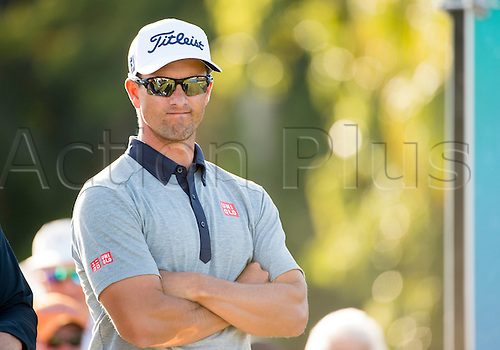 27.02.2016. Palm Beach, Florida, USA.  Adam Scott during the third round of the Honda Classic at the PGA National Resort & Spa in Palm Beach Gardens, FL.