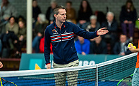 Alphen aan den Rijn, The Netherlands, 25 Januari 2019, ABNAMRO World Tennis Tournament, Supermatch, Final,  Umpire at the toss<br /> Photo: www.tennisimages.com/Henk Koster