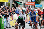 Edvald Boasson Hagen (NOR) Team Dimension Data wins Stage 1 of the Criterium du Dauphine 2019, running 142km from Aurillac to Jussac, France. 9th June 2019<br /> Picture: Colin Flockton | Cyclefile<br /> All photos usage must carry mandatory copyright credit (© Cyclefile | Colin Flockton)