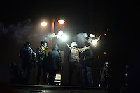 Demonstrators hold smoke candles  in sign of  protest against new draconian law to ban protestsacross the country.  Kiev. Ukraine