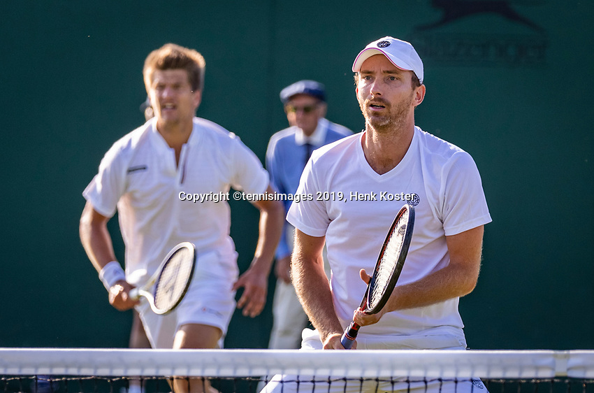 London, England, 3 July, 2019, Tennis,  Wimbledon, Men's doubles Sander Arends (NED) and Matwe Middelkoop (NED) (R)<br /> Photo: Henk Koster/tennisimages.com